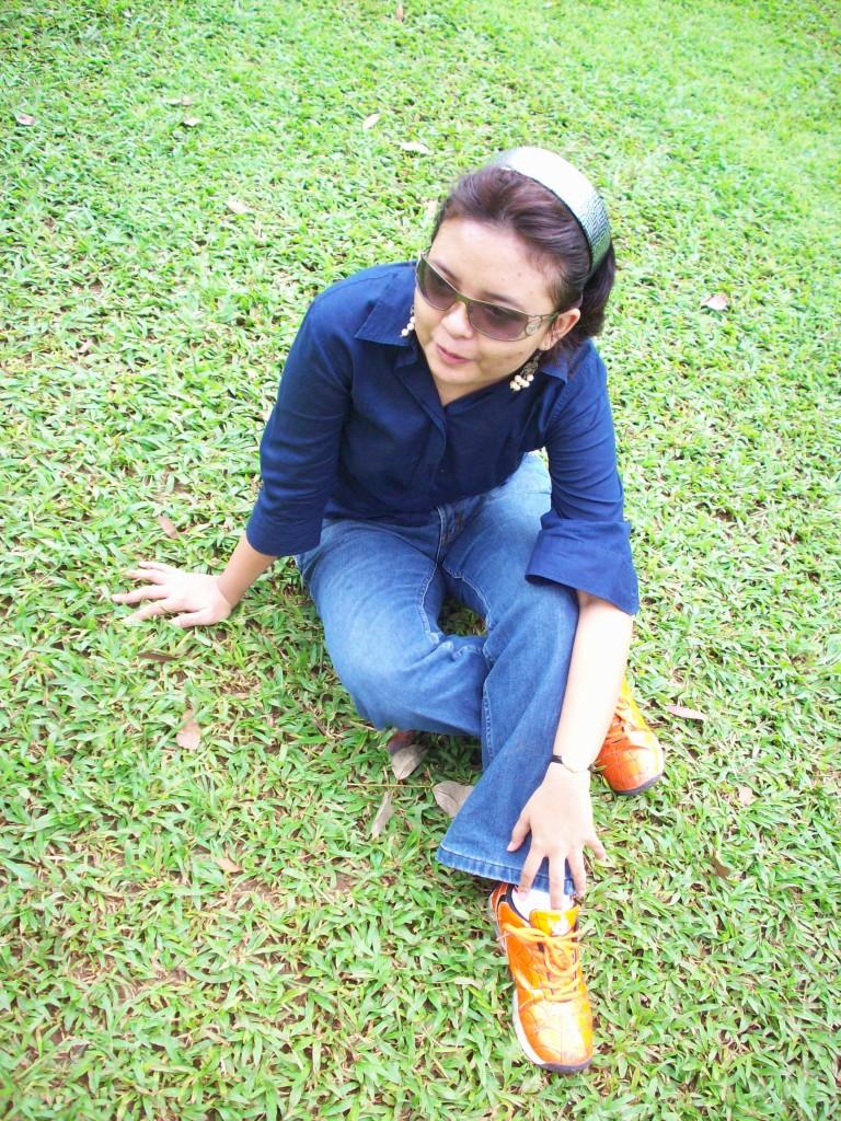 jeans LEA 2009 skrg sdh jd clana pendek krn koyak