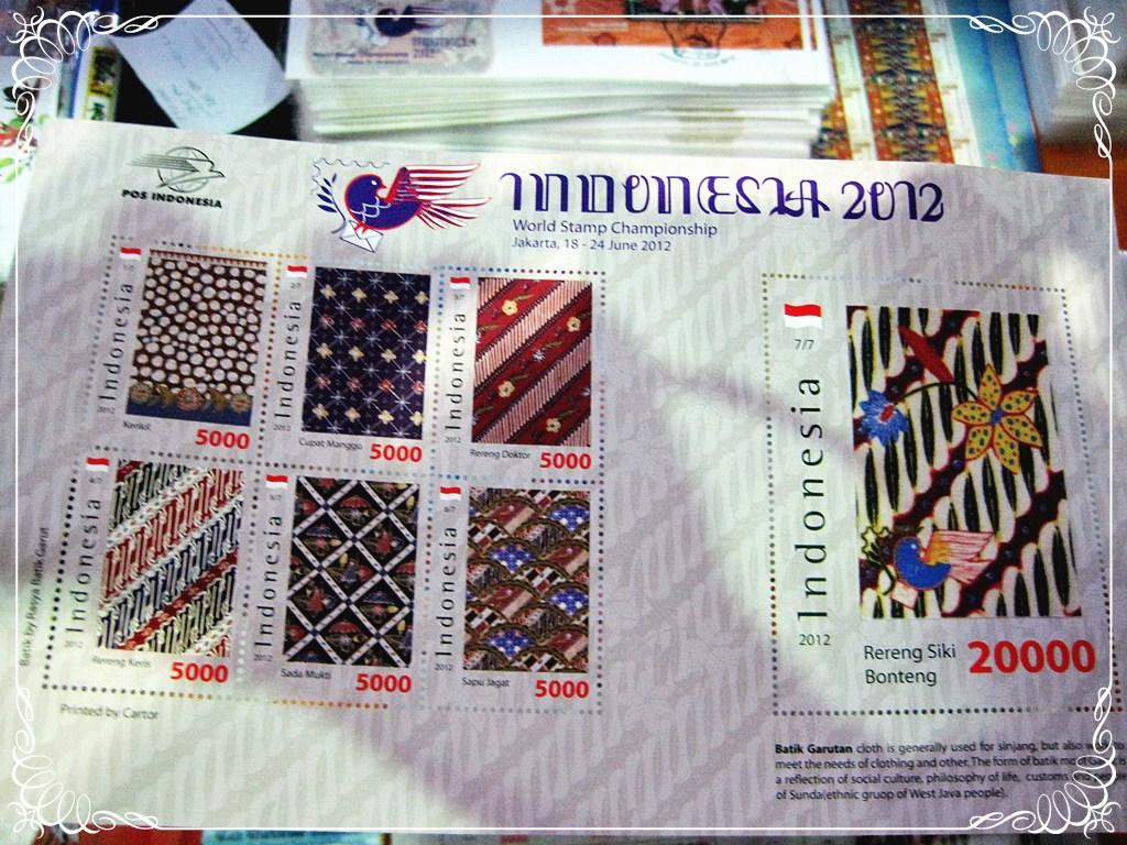 Lima Puluh Ribu Saja untuk Perangko dari Bahan Kain Batik