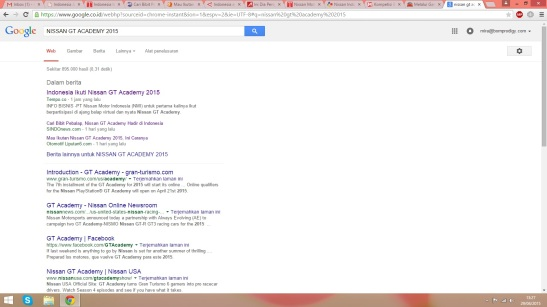 pencarian google mengenai berita sesuai kata kunci