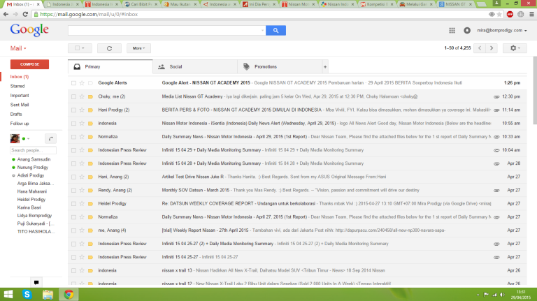 tampilan email
