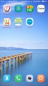 aplikasi ini dicobakan di Xiaomi Mi4